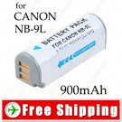 Battery NB-9L NB9L for Canon PowerShot SD4500 IS IXUS 1000HS