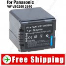 Battery VW-VBG260 for Panasonic HS9 H80 SX5 D9 SD7 Digital Camera