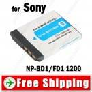 Li-ion Battery NP-BD1/FD1 for Sony T200 T70 Digital Camera