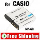 Battery NP-40 for CASIO EX-Z30 Z40 Z50 EX-P505 Digital Camera