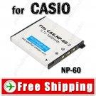 Li-ion Battery NP-60 for CASIO EX-S10 EX-Z80 EX-Z9 Digital Camera