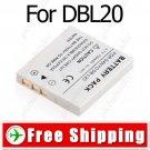 Camera DB-L20 DB-L20 Battery for Sanyo VPC-E1 VPC-E2 VPC-E6