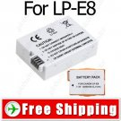 Camera Li-Ion LP-E8 LPE8 Battery for Canon EOS 550D Rebel T2i