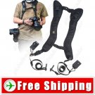 Quick Double Shoulder Belt Strap with Connect Bases for DSLR Camera