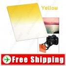 Lens Filter Front Gradual Change Color Filter 83mm DSLR Lens - Yellow