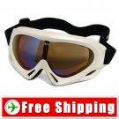 Sport Ski Snowboard Goggles Anti-Fog Anti-Scratch White FREE Shipping