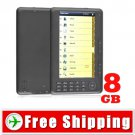 7 inch E-Book Reader Media Player with FM Radio - Voice Recorder 8GB