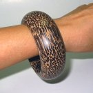 Big & Bold Wooden Bangle beautiful grain wood handmade