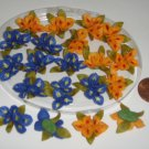 Miniature Iris Flowers handmade Luna Clay Crafts