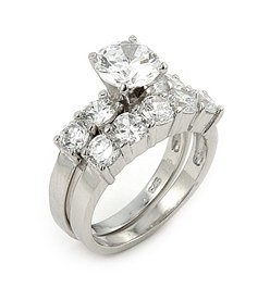 2.5ct Cubic Zirconia Wedding Set