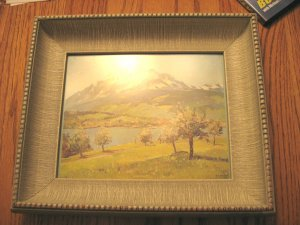 Vintage Wood Picture Frame Gray (for 8x10)