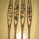 Vintage Sexton USA Ornamental Floral Metal Wall Hangings Set of 4