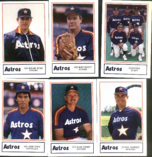 1987 Astros Police set with Nolan Ryan