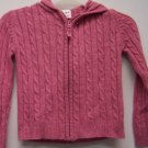 Girls Size Small Old Navy Pink Hooded Zipper up Sweater