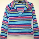 Girls Size 10/12 Striped Fleece Top