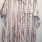 NEW WITH TAGS Mens Size Medium Orange Striped Shirt