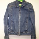 Woman's Eddie Bauer Size Small Zipper up Denim Jean Jacket