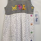 NEW WITH TAGS Girls Size 2T Black & White Sleeveless Dress
