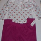 Girls Size 4T Long Sleeve Shirt and Fuscia Pants