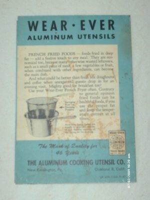 Manual - Wear-Ever Aluminum Utensils