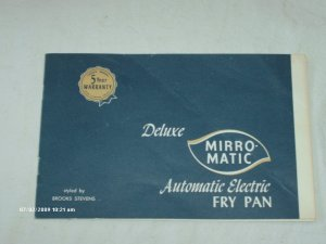 Manual - Deluxe Mirro-Matic Automatic Electric Fry Pan