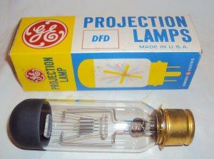Vintage Projector Lamp � DFD � GE