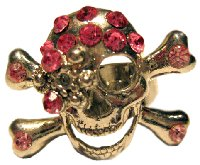 Pirate Ring with Pink Jewels