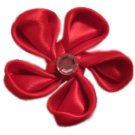 Red Silk Flower on Aligator Clip *SOLD*
