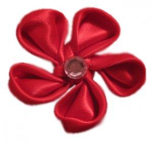 Red Silk Flower on Aligator Clip *SOLD*
