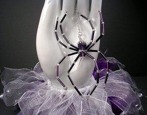 Swarovski Purple Velvet Crystal Spider