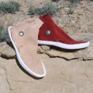 Kaibab Style Traditional Navajo Moccasins w/ 1 Concho Button & Thick Sole - FREE US SHIPPING