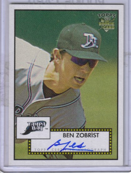 2006 Topps 52 Signatures Ben Zobrist J #BZ