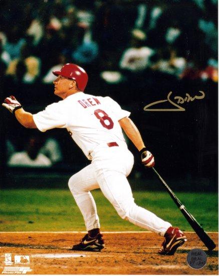 J.D Drew Autographed 8X10 Photo