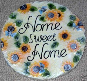 Sunflower Home Sweet Home Garden Stepping Stone