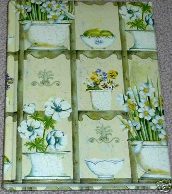 Green Padded Flower Pots Journal Lined for Writing