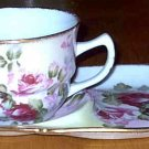 Roses Tea Cup and Snack Saucer