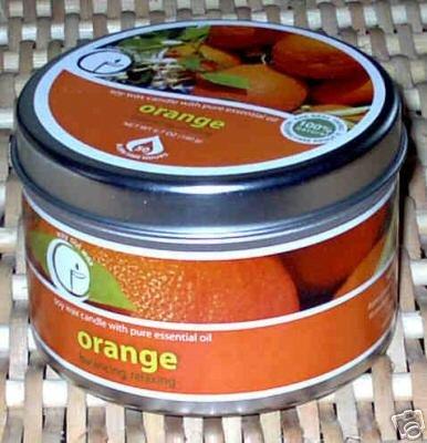 Orange Aromatherapy Soy Candle