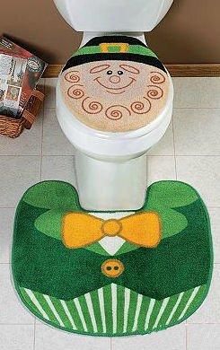 Leprechaun Toilet Lid Cover & Rug