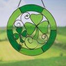 Shamrock Stained Glass Suncatcher