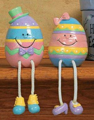 Easter Egg Dangle Leg Shelf Sitters