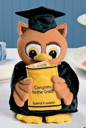 Graduation Plush Owl Money Holder