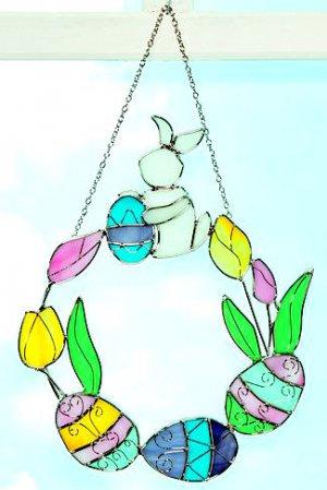 Easter Egg Wreath Suncatcher