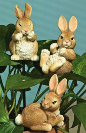 Bunny Plant Stakes