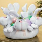 Plush Bunny Centerpiece Bowl