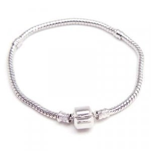 Silver Plated Charm Base Bracelet Fits Pandora Troll Biagi Charms & Beads