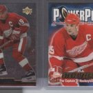 Steve Yzerman '01 ATOMIC Power Play & '00 UD Gold Res.