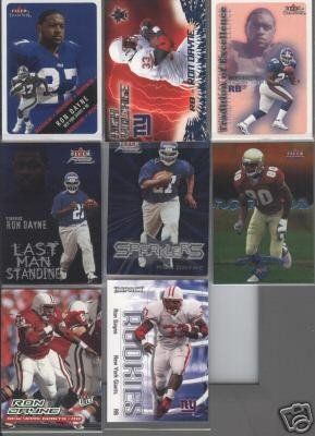 Ron Dayne 2000 Rookie LOT (8 cards No Doubles)