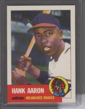 Hank Aaron 1991 Topps Archives 1953 Reprint