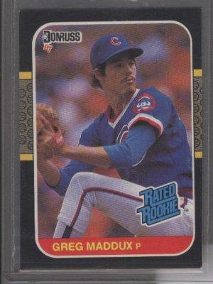 Greg Maddux 1987 Donruss ROOKIE Card