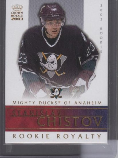 Stanislav Chistov Rookie Royalty Crown Royale